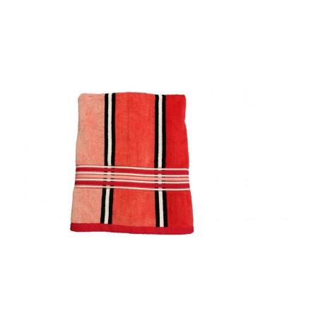 Kvalitní froté ručník pruhovaný, 100% bavlna, 50x100 cm, červený