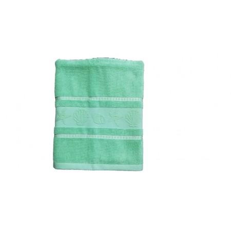 Kvalitní froté ručník- jednobarevný s mořskými plody, 100% bavlna, 50x100 cm, světle zelený