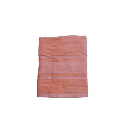 Kvalitní froté ručník- jednobarevný s mořskými plody, 100% bavlna, 50x100 cm, lososový
