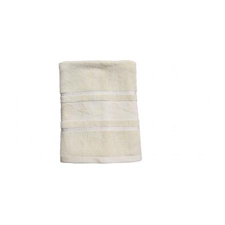Kvalitní froté ručník- jednobarevný s mořskými plody, 100% bavlna, 50x100 cm, béžový