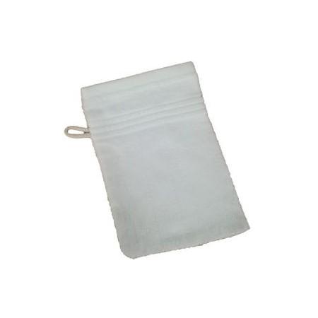 Měkká antibakteriální žínka, bambusové vlákno / bavlna, 14x22 cm, bílá