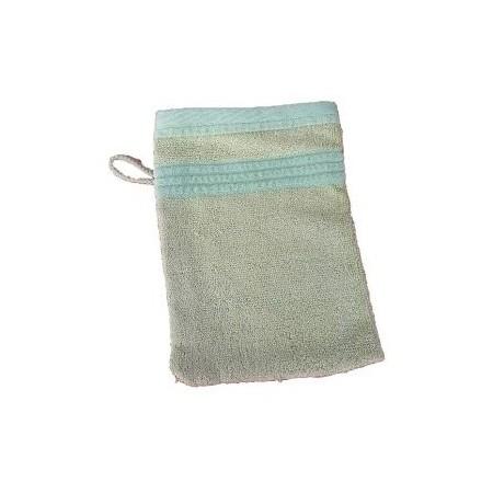 Měkká antibakteriální žínka, bambusové vlákno / bavlna, 14x22 cm, světle zelená