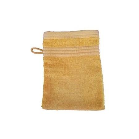 Měkká antibakteriální žínka, bambusové vlákno / bavlna, 14x22 cm, žlutá