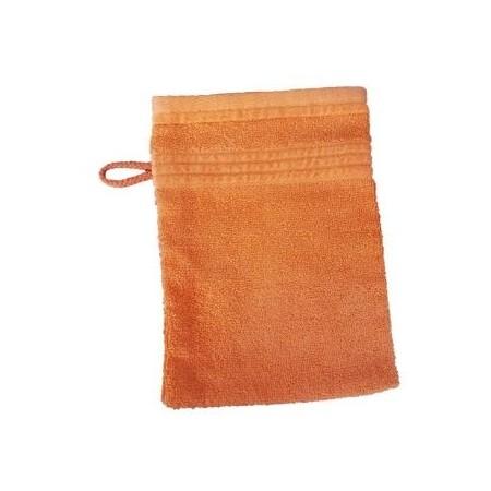 Měkká antibakteriální žínka, bambusové vlákno / bavlna, 14x22 cm, oranžová