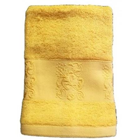 Antibakteriální ručník z bambusového vlákna / bavlny, 50x100 cm, žlutý