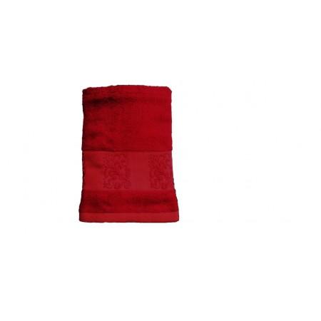 Antibakteriální ručník z bambusového vlákna / bavlny, 50x100 cm, vínový
