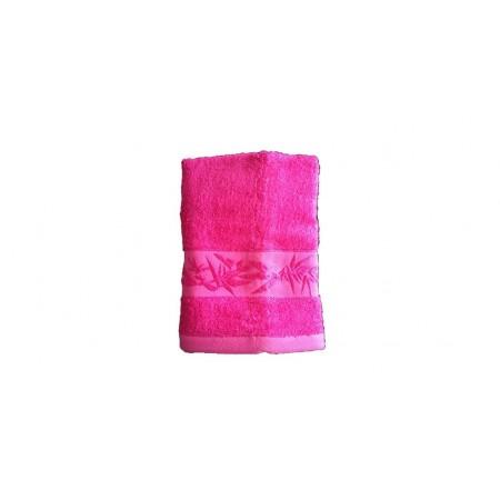Antibakteriální ručník z bambusového vlákna / bavlny, 50x100 cm, růžový