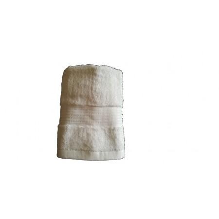 Antibakteriální bambusový ručník, rychleschnoucí, 50x100 cm, bílý