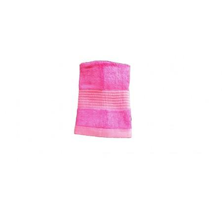 Jednobarevný ručník z bambusového froté, 50x100 cm, růžový