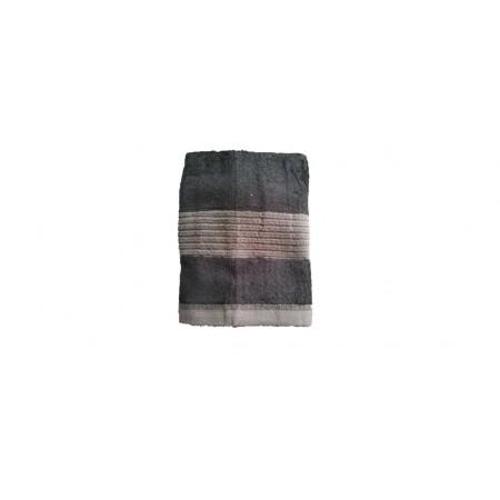 Jednobarevný ručník z bambusového froté, 50x100 cm, černý