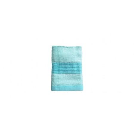 Jednobarevný ručník z bambusového froté, 50x100 cm, tyrkysový