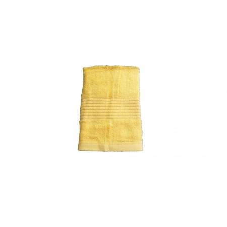 Jednobarevný ručník z bambusového froté, 50x100 cm, žlutý