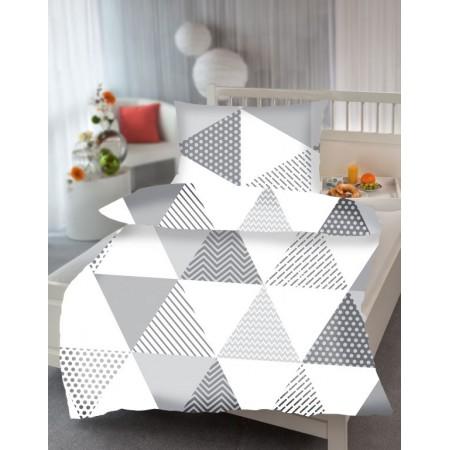 Povlečení na polštář + přikrývku, trojúhelníky - vzor Triangl, 70x90cm+140x200cm