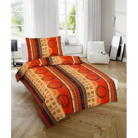 Ložní povlečení ze 100% bavlny, vzor Hubert, jednolůžko 70x90cm+140x200 cm