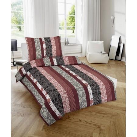 Ložní povlečení ze 100% bavlny, vzor Luisa, jednolůžko 70x90cm+140x200 cm
