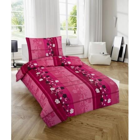 Ložní povlečení ze 100% bavlny, vzor Růženka, jednolůžko 70x90cm+140x200 cm