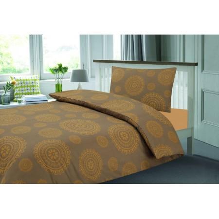 Povlečení na postel, vzor Maroko - hnědá, 70x90cm+140x200cm
