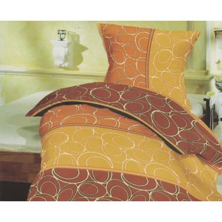 Povlečení na polštář + přikrývku, bavlněný satén, Marco tera - barevné, 70x90cm +140x200cm