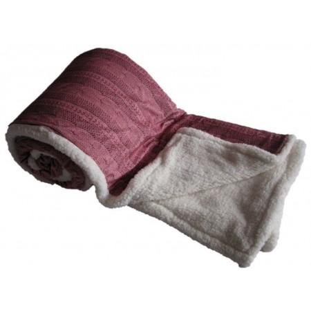 Hřejivá deka z mikroflanelu Beránek, pratelná, 150x200 cm, starorůžová