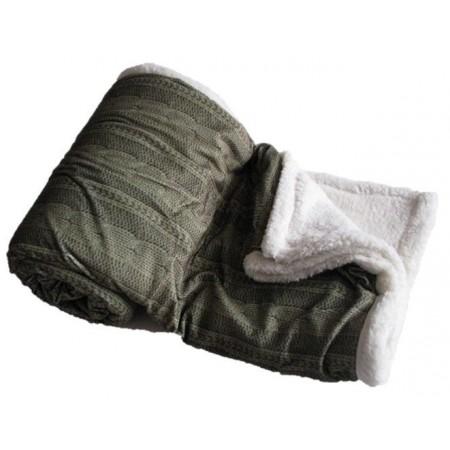 Hřejivá deka z mikroflanelu Beránek, pratelná, 150x200 cm, zelená