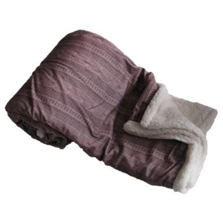 Hřejivá deka z mikroflanelu Beránek, pratelná, 150x200 cm, tmavě hnědá