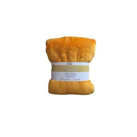 Hebká hřejivá deka z mikrovlákna, 150x200 cm, žlutá