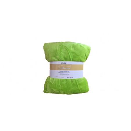 Hebká hřejivá deka z mikrovlákna, 150x200 cm, světle zelená
