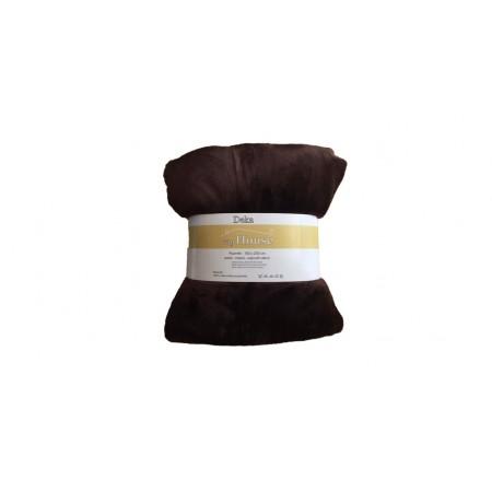 Hebká hřejivá deka z mikrovlákna, 150x200 cm, hnědá