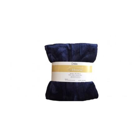 Hebká hřejivá deka z mikrovlákna, 150x200 cm, tmavě modrá