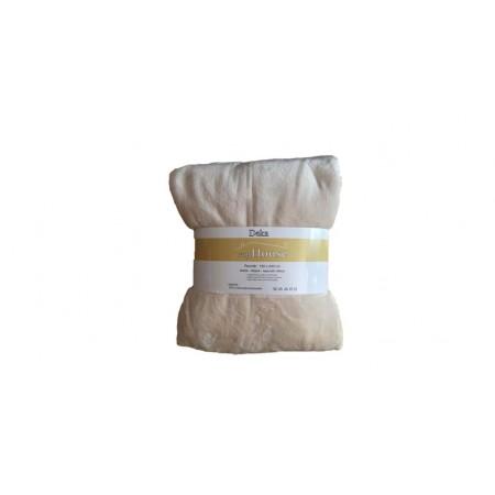 Hebká hřejivá deka z mikrovlákna, 150x200 cm, béžová / smetana