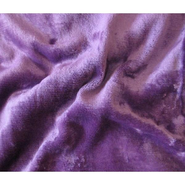 Prostěradlo mikroplyšové na jedolůžko, všitá guma, 90x200 cm, fialové