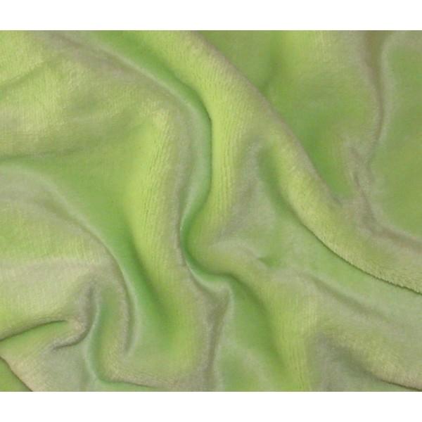 Prostěradlo mikroplyšové na jedolůžko, všitá guma, 90x200 cm, zelené