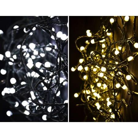Vánoční LED řetěz s přepínatelnou barvou, blikající funkce, venkovní / vnitřní, 29,9 m
