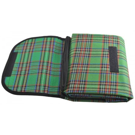 Skládací pikniková deka - voděodolná spodní část, zelená, 180x145 cm