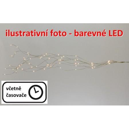 Vánoční dekorativní osvětlení - drátky s LED diodami, vnitřní, na baterie, barevné, 0,85 m