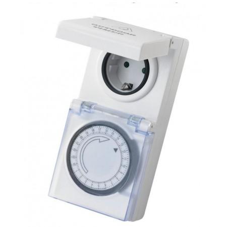 Spínač / časovač do zásuvky venkovní / vnitřní IP44, mechanický