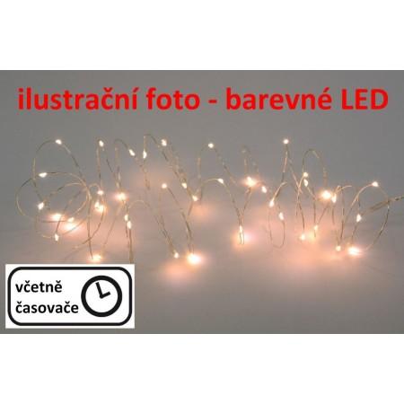 Dekorativní LED osvětlení na baterie, LED diody na drátku, barevné, 1,9 m