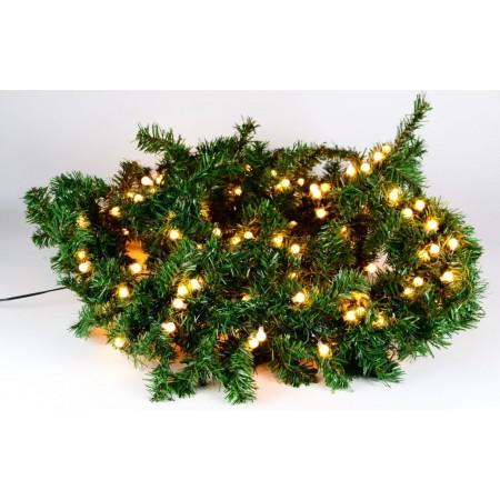 Umělá vánoční girlanda osvětlená, venkovní / vnitřní, 2,7 m, 200 LED