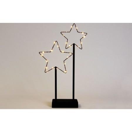 Vánoční dekorace - osvětlené koule do okna / na poličku, na baterie, vnitřní, 37 cm