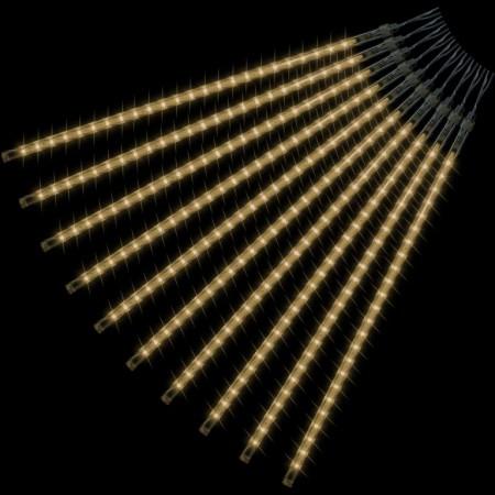 Vánoční osvětlení s efektem padajícího deště venkovní / vnitřní, teple bílá, 240 LED, 10 tyčí