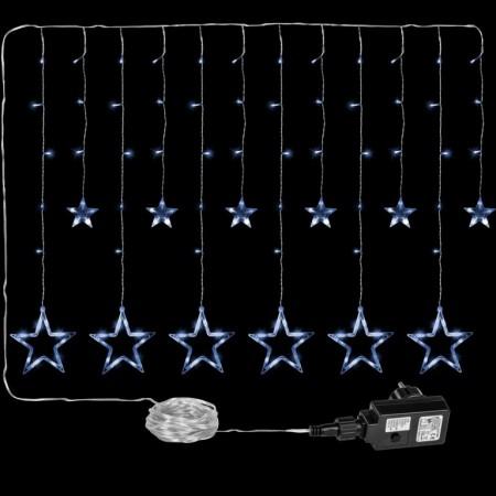 Světelný závěs - hvězdy do okna, venkovní / vnitřní, 8 funkcí, 150 LED