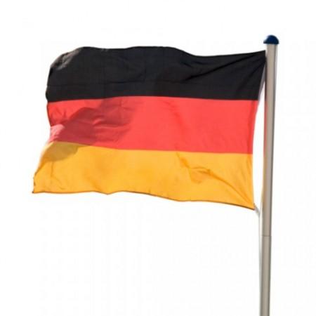 Hliníkový stožár s vlajkou, výška 6,2 m