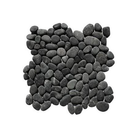 Obklad / dlažba - mozaika venkovní / vnitřní- šedivé oblázky, 1x síťka 30x30 cm
