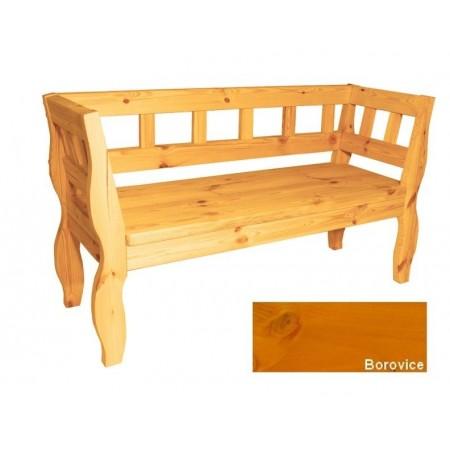 Dřevěná lavice z masivu - retro vzhled, borovice, 157 cm