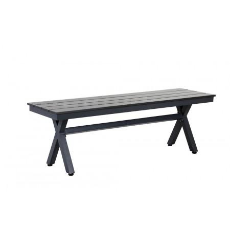 2 ks bytelná bezúdržbová zahradní lavice hliník / polywood, 135 cm