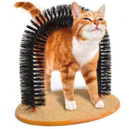 Masážní + vyčesávací kartáč pro kočky