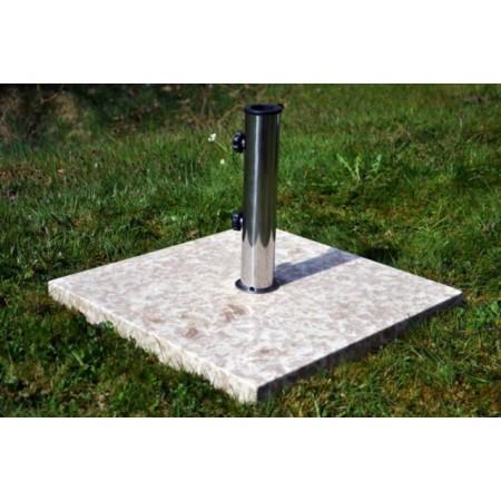 Exkulzivní čtvercový mramorový držák na slunečník, 25 kg