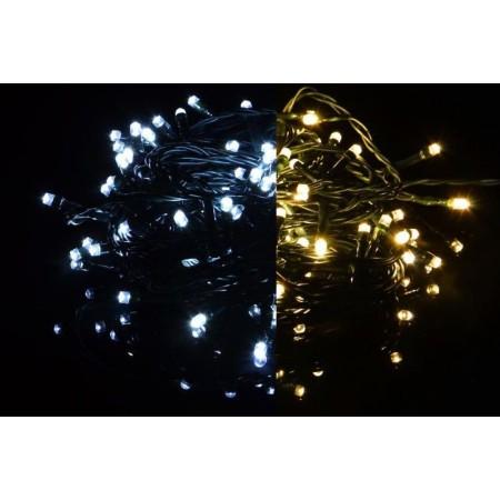 Vánoční LED řetěz svítící + blikající, změna barvy, venkovní / vnitřní, 40 m