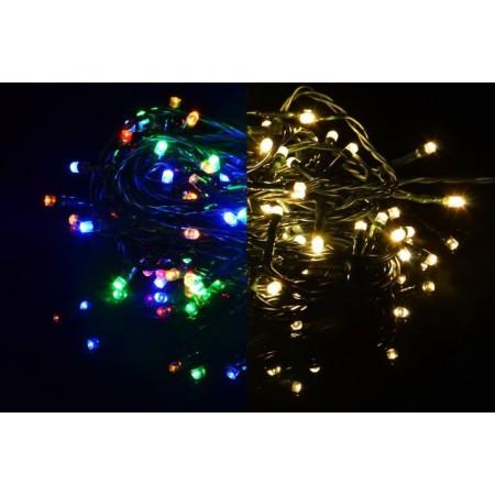 Světelný řetěz se změnou barvy venkovní / vnitřní, svícení / blikání, 40 m
