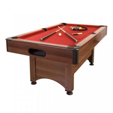 Menší kulečníkový stůl 5 FT, nastavitelná výška, červená